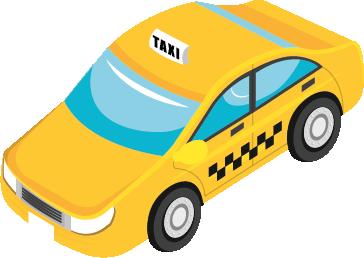 Ein gelbes Taxi