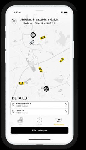 Die Taxi-App best.ways.passenger